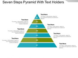 Seven Steps Pyramid With Text Holders