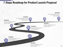 Seven Steps Roadmap For Product Launch Proposal Ppt Powerpoint Presentation Summary Mockup