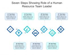 Seven Steps Showing Role Of A Human Resource Team Leader Infographic Template