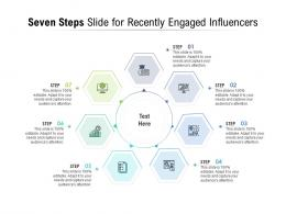 Seven Steps Slide For Recently Engaged Influencers Infographic Template