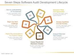 Seven Steps Software Audit Development Lifecycle Ppt Sample File