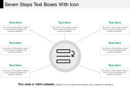 Seven Steps Text Boxes With Icon