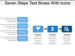 Seven Steps Text Boxes With Icons