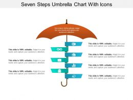 Seven Steps Umbrella Chart With Icons