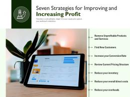 Seven Strategies For Improving And Increasing Profit