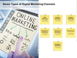 Seven Types Of Digital Marketing Channels