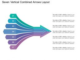 Seven Vertical Combined Arrows Layout