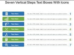 Seven Vertical Steps Text Boxes With Icons