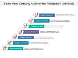 Seven Years Company Achievement Presentation With Goals