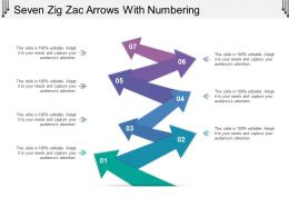 Seven Zig Zac Arrows With Numbering