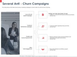 Several Anti Churn Campaigns Satisfaction Ppt Powerpoint Presentation File Guidelines