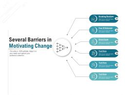 Several Barriers In Motivating Change