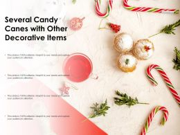 Several Candy Canes With Other Decorative Items