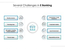 Several Challenges In E Banking