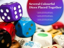Several Colorful Dices Placed Together