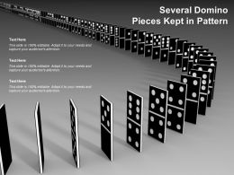 Several Domino Pieces Kept In Pattern