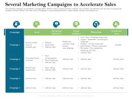 Several Marketing Campaigns To Accelerate Sales Marketing Ppt Powerpoint Presentation Infographic Template