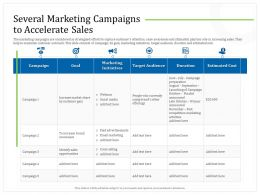 Several Marketing Campaigns To Accelerate Sales October Ppt Powerpoint Presentation Gallery