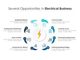 Several Opportunities In Electrical Business