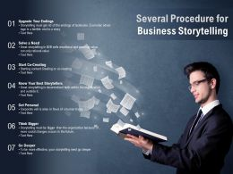 Several Procedure For Business Storytelling