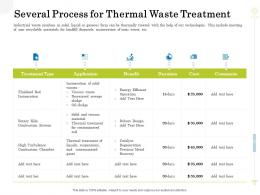 Several Process For Thermal Waste Treatment Clean Production Innovation Ppt Show Slides