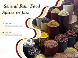 Several Raw Food Spices In Jars