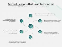 Several Reasons That Lead To Firm Fail