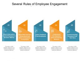 Several Rules Of Employee Engagement