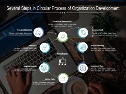 Several Steps In Circular Process Of Organization Development