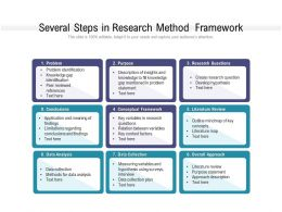 Several Steps In Research Method Framework