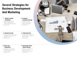 Several Strategies For Business Development And Marketing