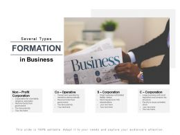 Several Types Formation In Business