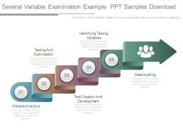 Several Variable Examination Example Ppt Samples Download