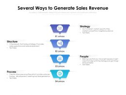 Several Ways To Generate Sales Revenue