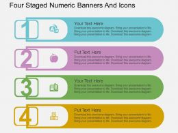 Sf Four Staged Numeric Banners And Icons Flat Powerpoint Design