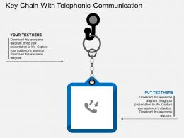 sf_key_chain_with_telephonic_communication_flat_powerpoint_design_Slide01