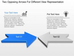 Sf Two Opposing Arrows For Different View Representation Powerpoint Template