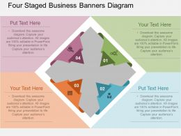 sg Four Staged Business Banners Diagram Flat Powerpoint Design