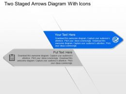 Sg Two Staged Arrows Diagram With Icons Powerpoint Template