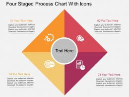Sh Four Staged Process Chart With Icons Flat Powerpoint Design