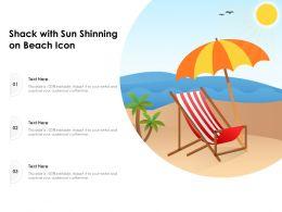 Shack With Sun Shinning On Beach Icon