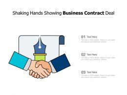 Shaking Hands Showing Business Contract Deal