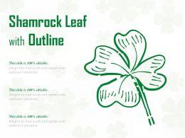 Shamrock Leaf With Outline