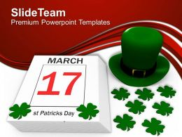Shamrock St Patricks Day Feast Holiday Templates Ppt Backgrounds For Slides