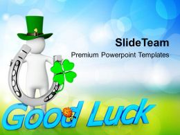 Shamrock St Patricks Day Happy With Good Luck Holidays Templates Ppt Backgrounds For Slides