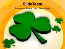 Shamrock St Patricks Day Powerpoint Templates Ppt Backgrounds For Slides