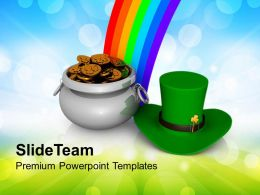 shamrock_st_patricks_day_with_rainbow_holidays_powerpoint_templates_ppt_backgrounds_for_slides_Slide01
