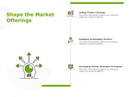 Shape The Market Offerings Managing Services Planning Ppt Powerpoint Presentation Show Microsoft