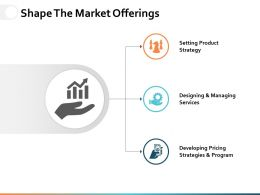 Shape The Market Offerings Ppt Powerpoint Presentation Gallery Professional