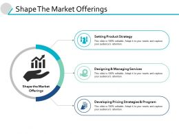 Shape The Market Offerings Ppt Powerpoint Presentation Icon Gallery